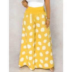 Loose Polka Dots Full Length Women's Casual Pants