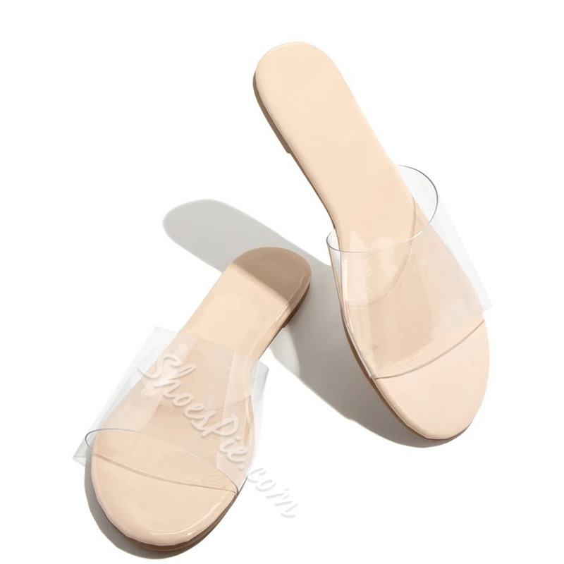 Shoespie Sexy See-Through Flat With Slip-On Western Slippers