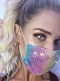 Safety Colorful Sequins Masks