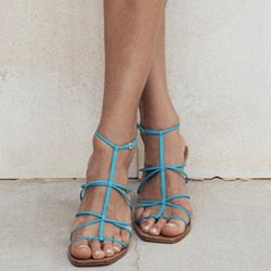 Shoespie Stylish Open Toe Strappy Buckle Low-Cut Upper Sandals