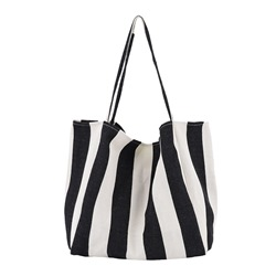 Shoespie Canvas Print Stripe Rectangle Shoulder Bags