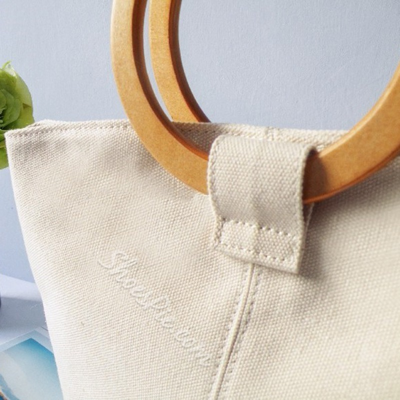 Shoespie Canvas Plain Thread Tote Bags