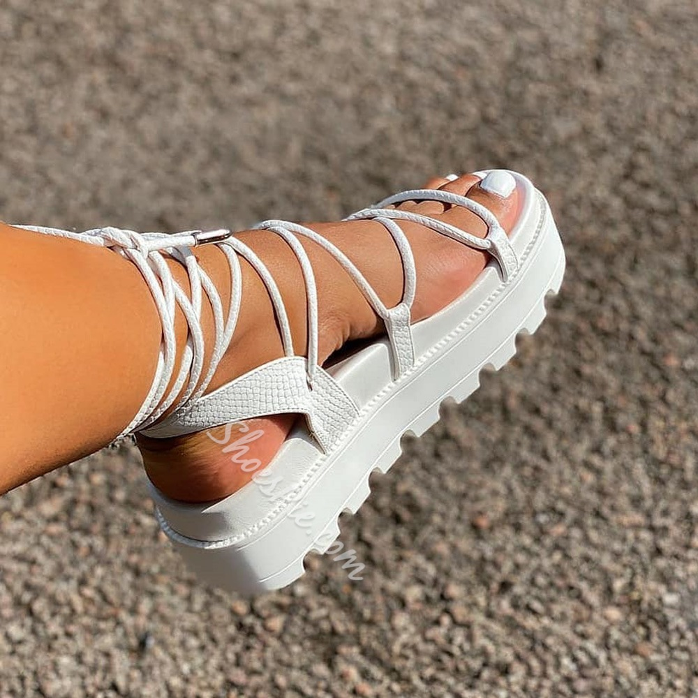 Shoespie Sexy Strappy Open Toe Lace-Up Lace-Up Sandals