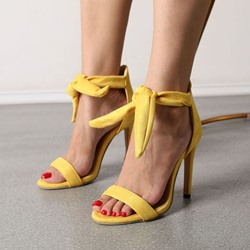 Shoespie Stylish Stiletto Heel Lace-Up Open Toe Casual Sandals