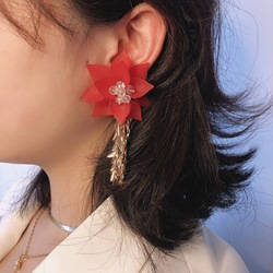 Tassel Floral Sweet Holiday Earrings