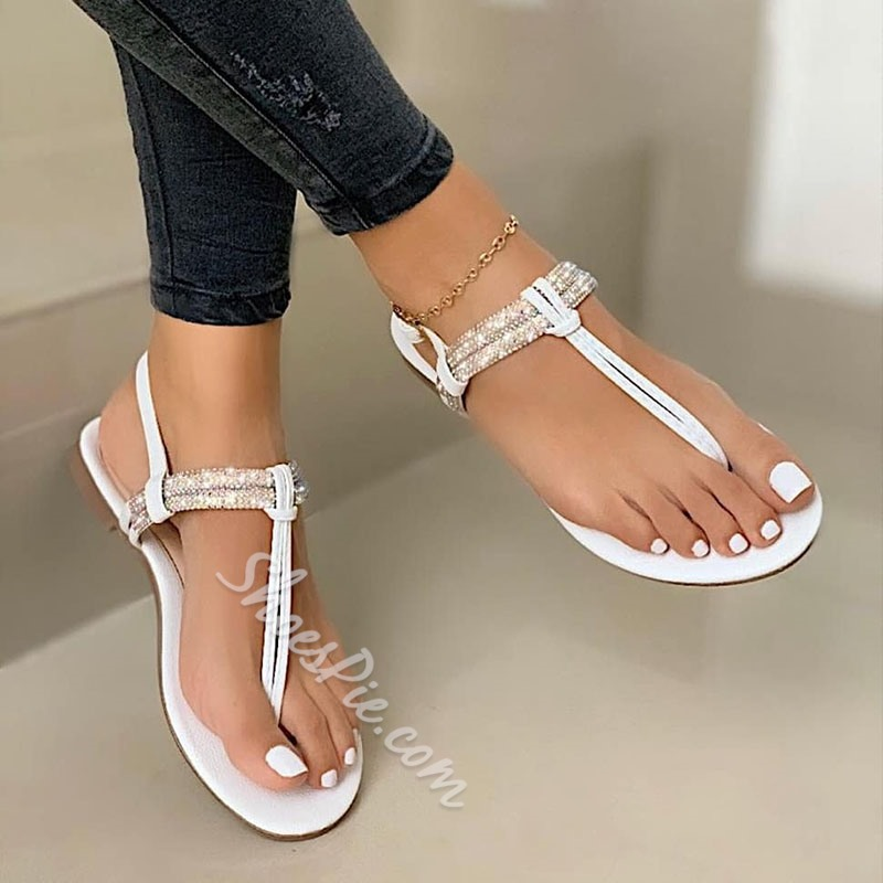Shoespie Stylish Flat With Slip-On Thong Plain Sandals