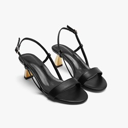 Shoespie Sexy Slingback Strap Buckle Round Toe Buckle Sandals
