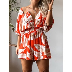 Backless Shorts Sexy Wide Legs Women's Jumpsuit