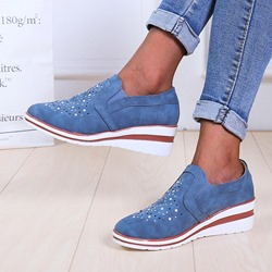 Shoespie Stylish Low-Cut Upper Hollow Slip-On Casual Sneakers