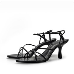 Shoespie Trendy Ankle Strap Stiletto Heel Buckle Plain Sandals
