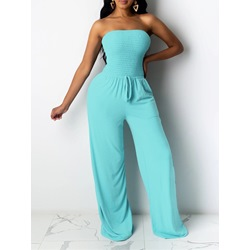 Sexy Lace-Up Plain Loose Women's Jumpsuit