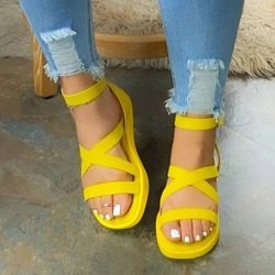Shoespie Trendy Flat With Buckle Open Toe Casual Sandals
