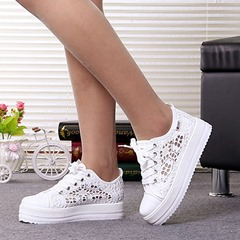 Shoespie Trendy Round Toe Low-Cut Upper Hollow Korean Sneakers