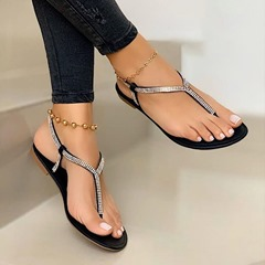 Shoespie Trendy Flat With Thong Slip-On Plain Sandals
