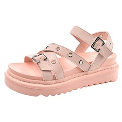 Shoespie Sexy Open Toe Ankle Strap Flat With Hollow Sandals