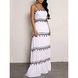 Tassel Sleeveless Floor-Length Summer Women's Dress