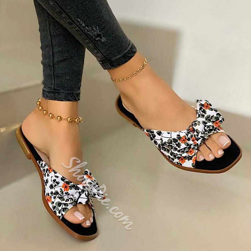 Shoespie Stylish Flat With Flip Flop Rubber Slippers
