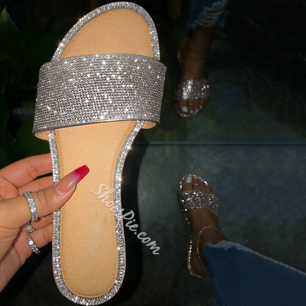 Shoespie Stylish Flat With Slip-On Flip Flop Slippers