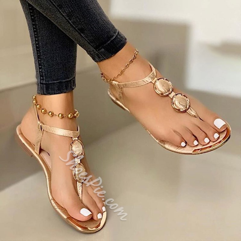 Shoespie Sexy Flat With Thong Slip-On Plain Sandals