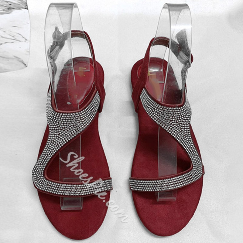 Shoespie Stylish Open Toe Buckle Flat With Casual Sandals