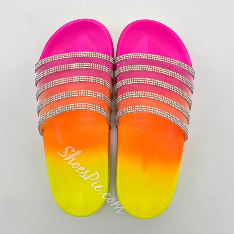 Shoespie Stylish Flip Flop Candy Color Flat With Casual Slippers