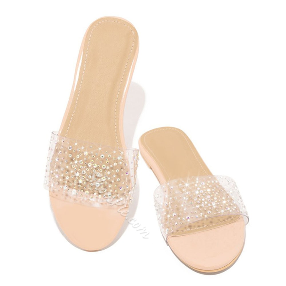 Shoespie Sexy Flip Flop Flat With Thread Plain Slippers