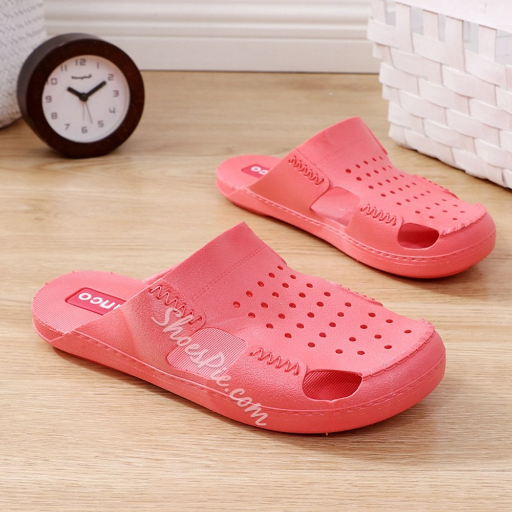 Shoespie Trendy Slip-On Flat With Thread Rubber Slippers
