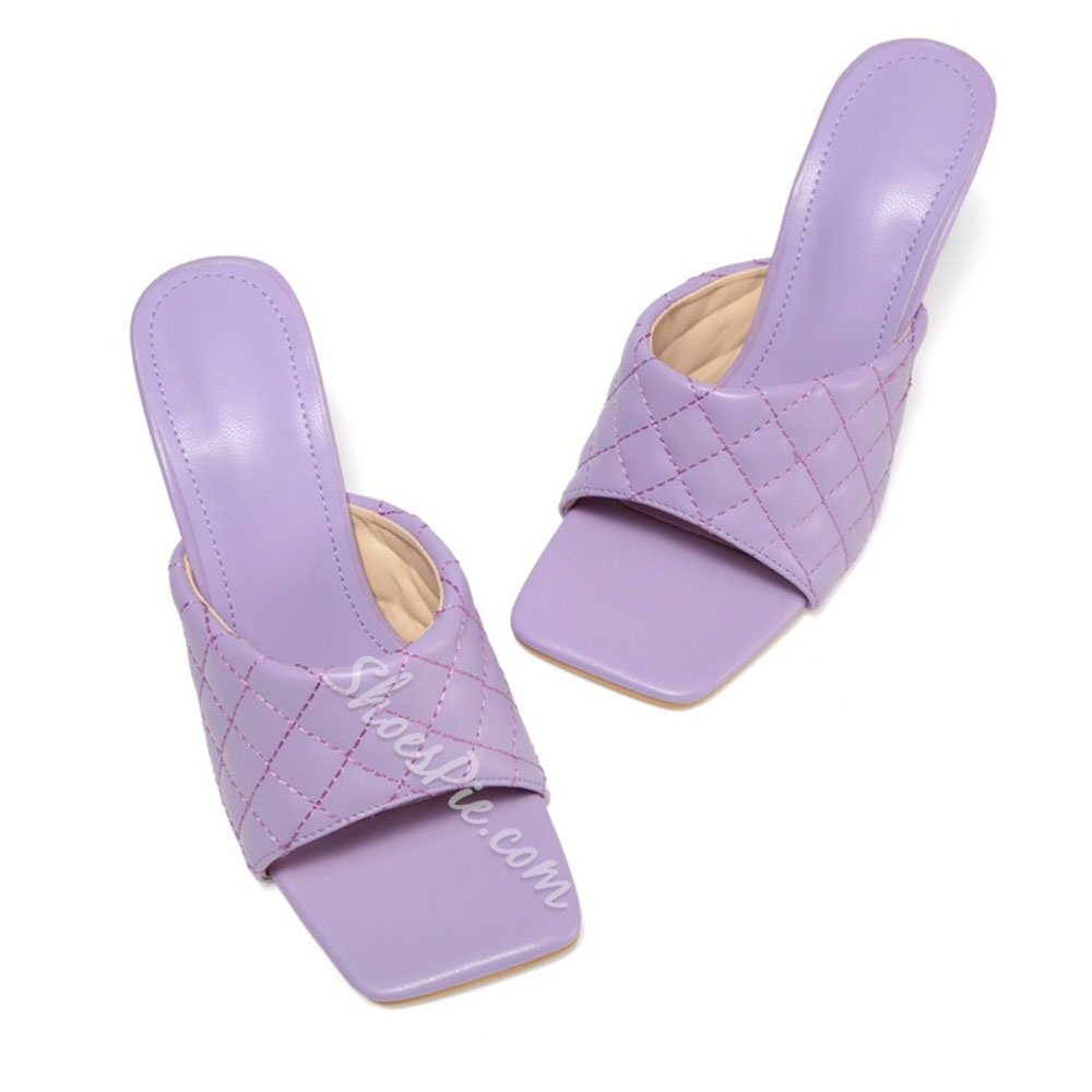 Shoespie Sexy Candy Color Stiletto Heel Flip Flop Western Slippers