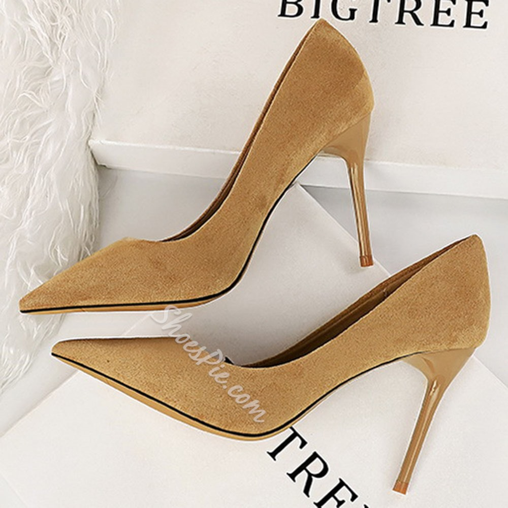 Shoespie Sexy Stiletto Heel Pointed Toe Plain Thin Shoes