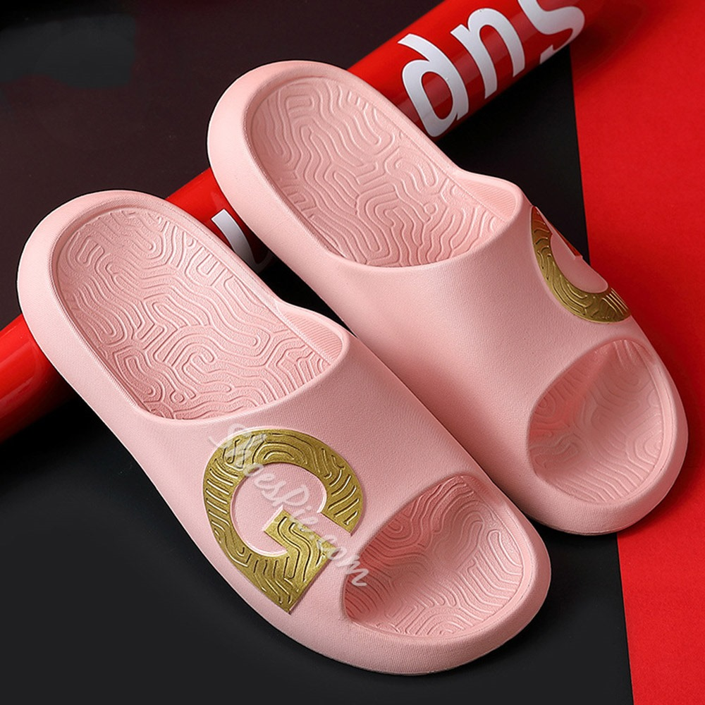 Shoespie Sexy Flip Flop Slip-On Candy Color Geometric Slippers