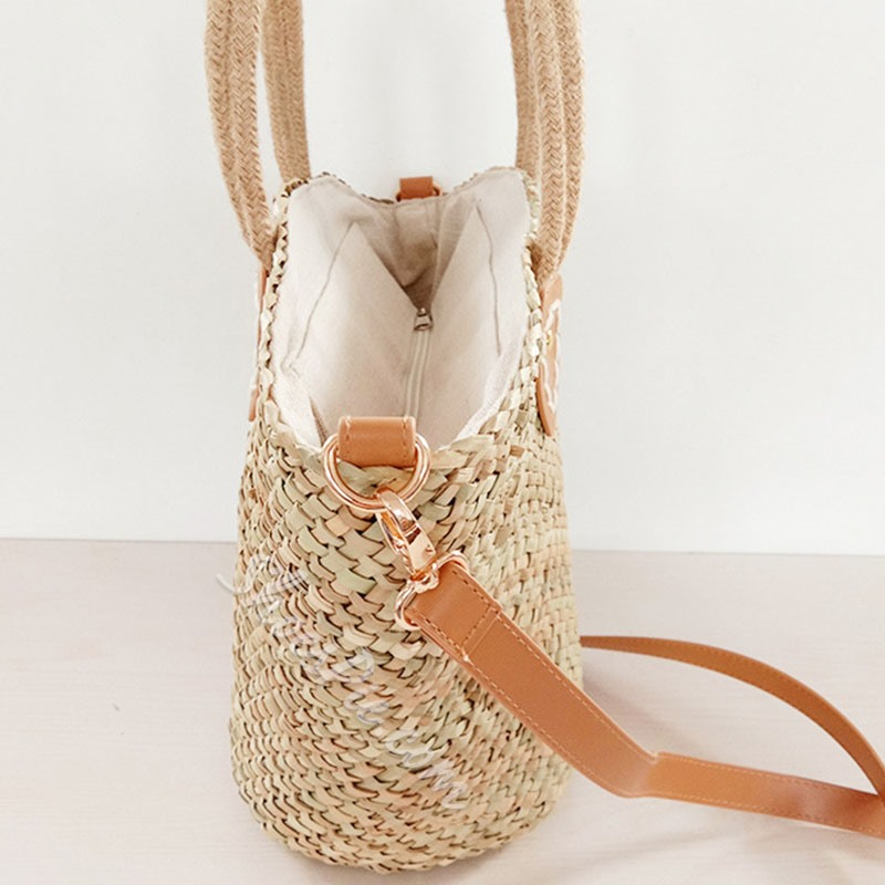 Shoespie Knitted Grass Shell Tote Bags