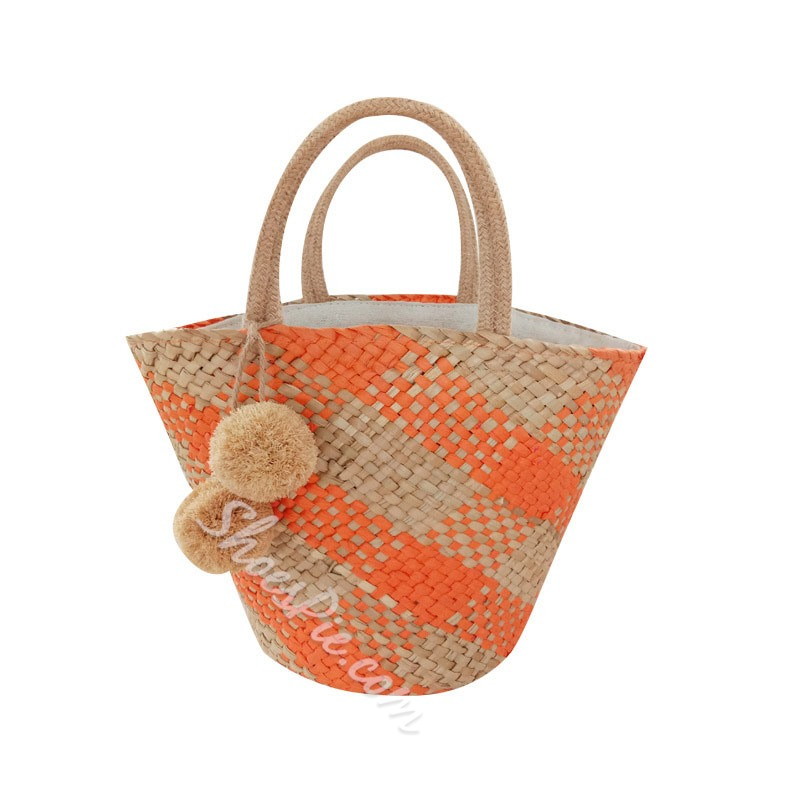 Shoespie Grass Knitted Shell Tote Bags