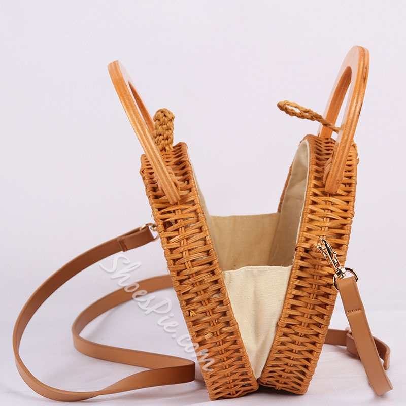 Shoespie Grass Knitted Circular Tote Bags