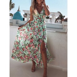 Print Ankle-Length Sleeveless Mid Waist Women's Dress