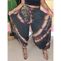 Lace-Up Gradient Loose Full Length Women's Casual Pants