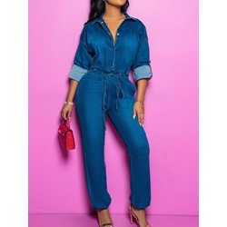 Chain Sexy Full Length Straight Women's Jumpsuit