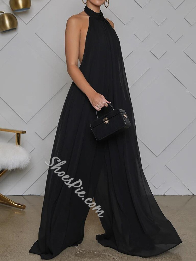 Backless Sexy Full Length Loose Women's Jumpsuit