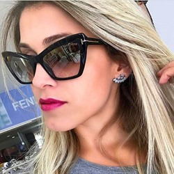 Cat Eye Fashion Resin Unisex Sunglasses