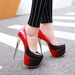 Shoespie Stylish Stiletto Heel Square Toe Slip-On Ultra-High Heel(≥8cm) Thin Shoes