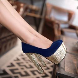 Shoespie Trendy Platform Square Toe Slip-On Ultra-High Heel(≥8cm) Thin Shoes