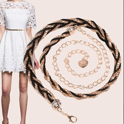 Female Sweet Knitted Waist Chains