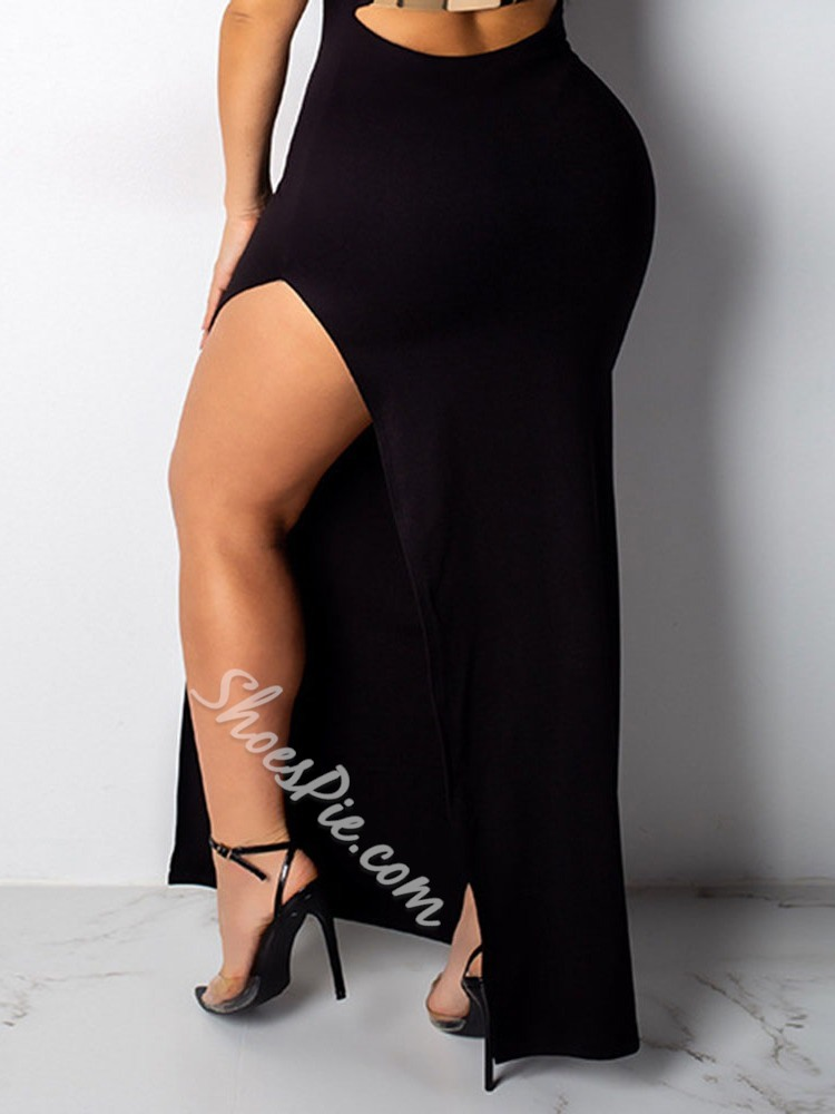 Sleeveless Round Neck Backless Bodycon Women's Dress