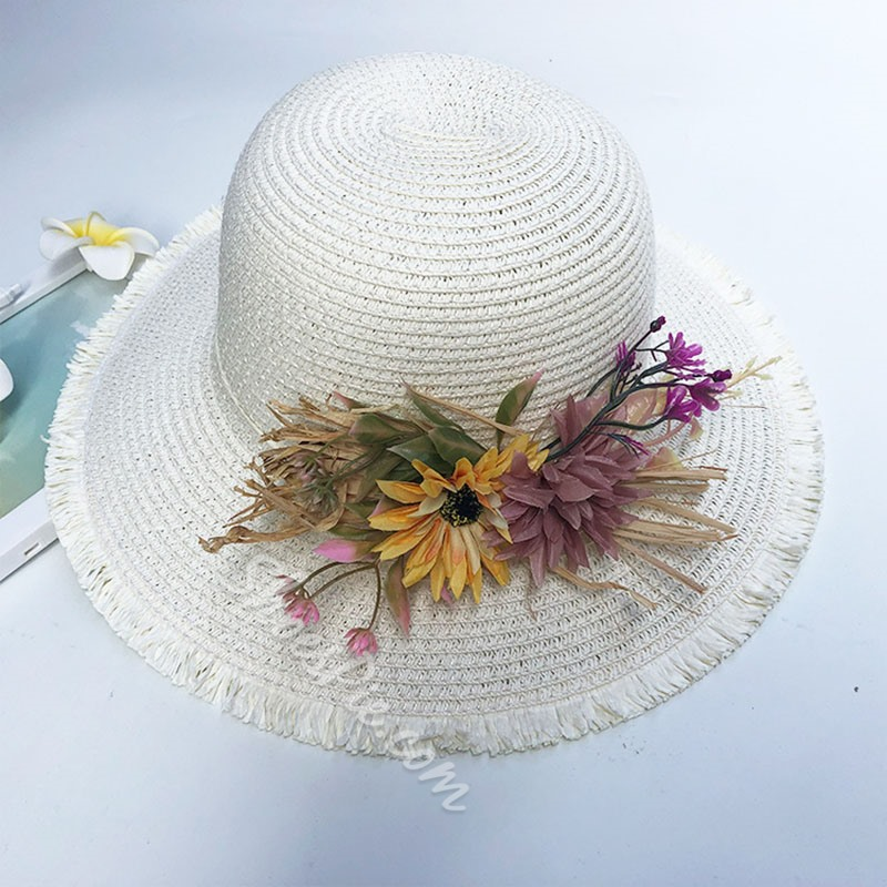 Sweet Straw Hat Straw Plaited Article Spring Hats