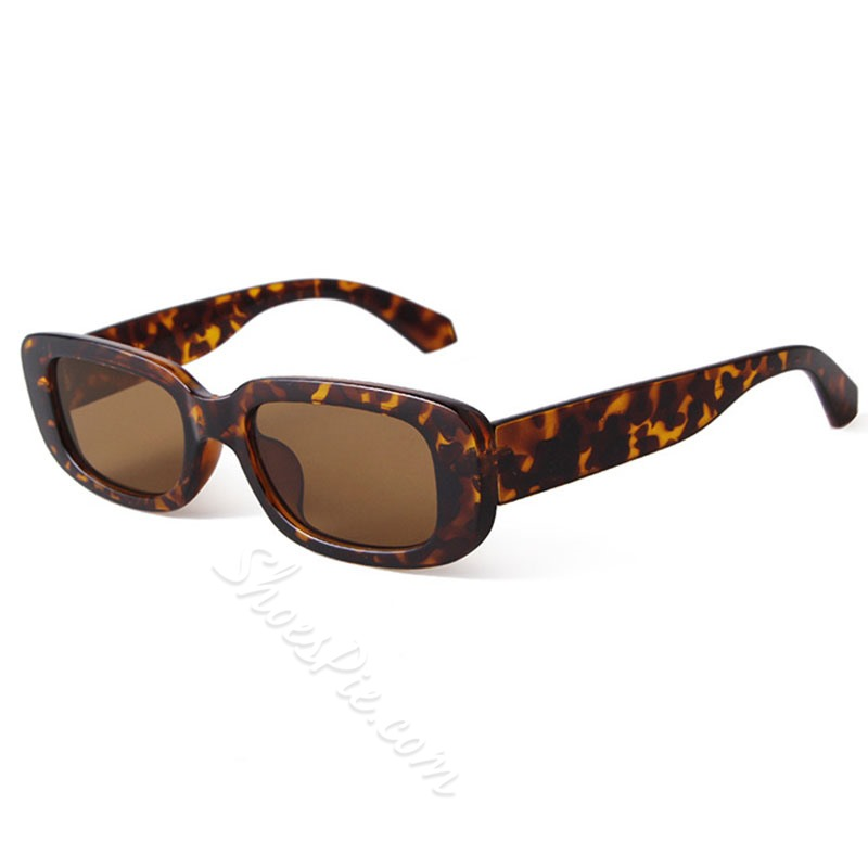Resin Rectangle Vintage Sunglasses