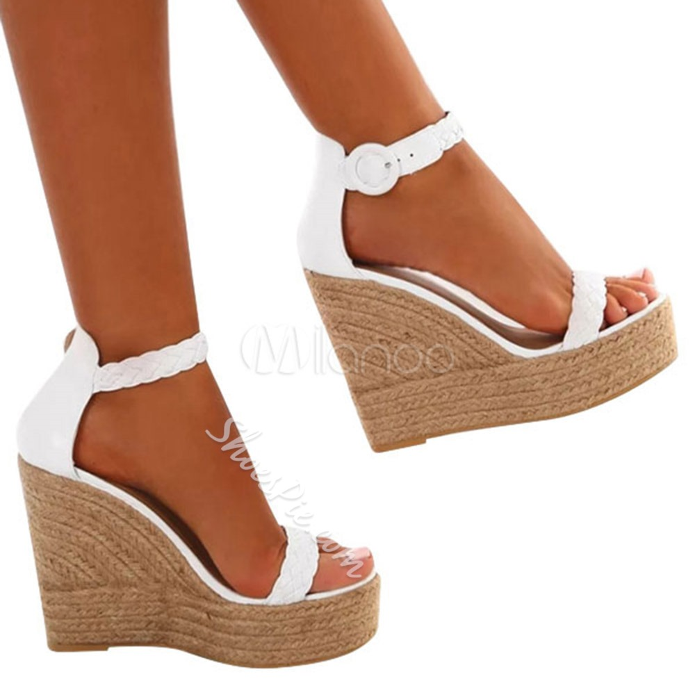 Shoespie Stylish Buckle Wedge Heel Open Toe Platform Wedge Sandals
