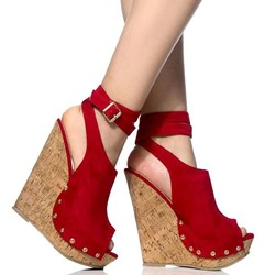 Shoespie Stylish Wedge Heel Buckle Peep Toe Professional Sandals