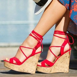 Shoespie Trendy Slingback Strap Lace-Up Open Toe Casual Sandals
