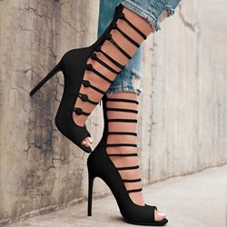 Shoespie Sexy Stiletto Heel Zipper Thread Sweet Sandals