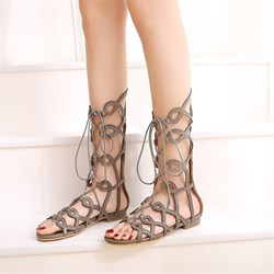 Shoespie Sexy Lace-Up Open Toe Casual Sandals