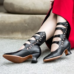 Shoespie Sexy Pointed Toe Plain Hasp Western Boots